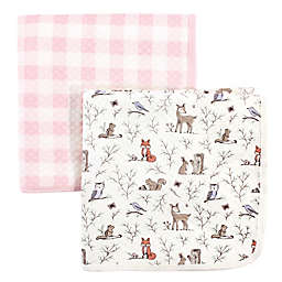 Hudson Baby® 2-Pack Enchanted Garden Cotton Quilted Blankets in Pink