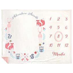 Hudson Baby® Adventure Milestone Blanket in Pink