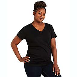 Motherhood Maternity® Plus Size V-Neck Side Ruched Maternity Tee