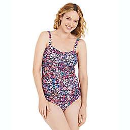 Ruched Maternity Tankini Swimsuit UPF 50+