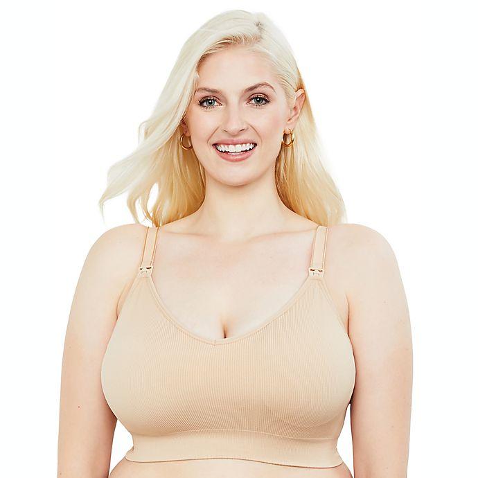 Alternate image 1 for Motherhood Maternity® Plus Size Seamless Rib Knit Maternity and Nursing Bra