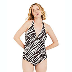 Motherhood Maternity® Large Jessica Simpson Ruched Maternity One-Piece Swimsuit in Ivory
