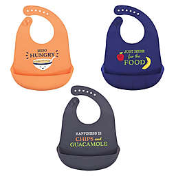 Hudson Baby® 3-Pack Miso Hungry Silicone Bibs