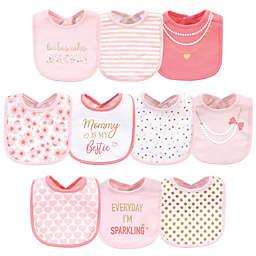 Little Treasure 10-Pack Brunch Cotton Bibs in Pink