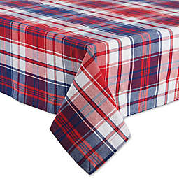 Design Imports Americana Plaid Tablecloth in Blue/Red