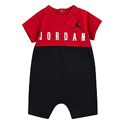 Jordan Air Color Block Romper in Red/Black/White