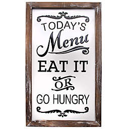 """Home Essentials & Beyond """"Today's Menu"""" 20-Inch x 12-Inch Enamel Wall Sign"""