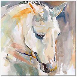Courtside Market® Watercolor Stallion I 16-Inch Square Canvas Wall Art