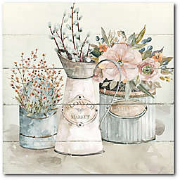 Courtside Market® Shiplap Flower Market 16-Inch Square Gallery Canvas Wall Art
