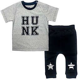Kapital K™ 2-Piece Hunk Graphic Tee and Jogger Pant Set in Black/White