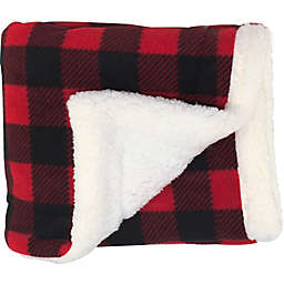 CosyCare Mountain Fleece and Sherpa Baby Blanket in Red