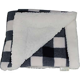 CosyCare CosyToes Mountain Fleece and Sherpa Baby Blanket in Black/White