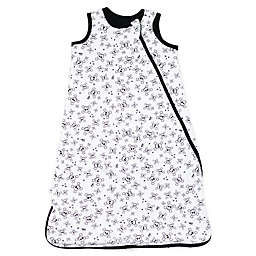 The Honest Company® Small Quilted Wearable Blanket in White/Black Skulls