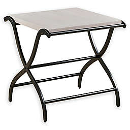 INK+IVY Wilson End Table in White/Black