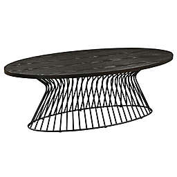 INK+IVY Mercer Oval Coffee Table in Black