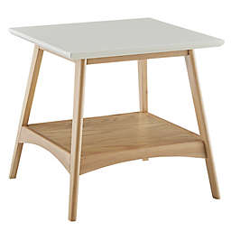 Madison Park® Parker Square 1-Shelf End Table in Off-White/Natural