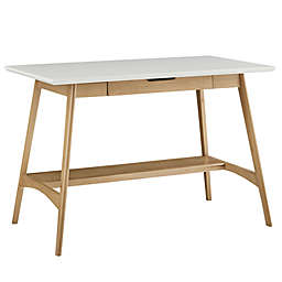 Madison Park® Parker 1-Shelf 1-Drawer Desk in Off-White/Natural