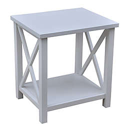 Bee & Willow™ Crossey End Table in Simply White