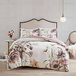 Madison Park Cassandra King/California King Duvet Cover Set in Blush