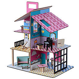 Teamson Kids Dreamland 360 Pop Dollhouse with Accessories