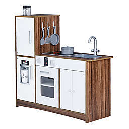 Teamson Kids Palm Spring Play Kitchen in White/Wood