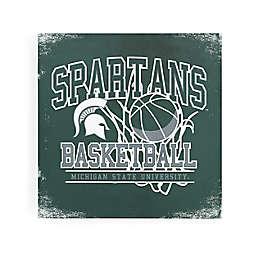 Michigan State University Spartans Basketball Canvas Wall Art