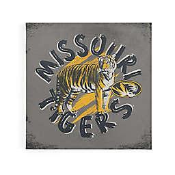 University of Missouri Mascot Circle Stripes Canvas Wall Art