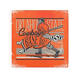 Oklahoma State University Baseball Player & Pennant Canvas Wall Art