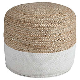 Signature Design by Ashley® Sweed Valley Pouf in Natural/White