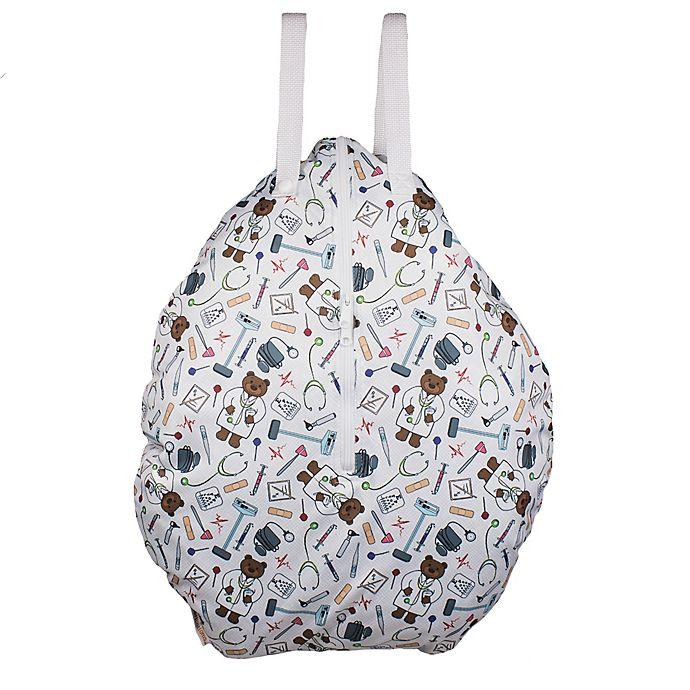 Alternate image 1 for smart bottoms® Doc Hanging Wet Bag in White