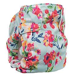 smart bottoms® Dream 2.0 Floral Cloth Diaper in Aqua