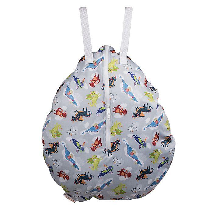 Alternate image 1 for smart bottoms® Dragon Hanging Wet Bag in Grey