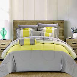 Chic Home Sebastian 10-Piece Queen Comforter Set in Yellow
