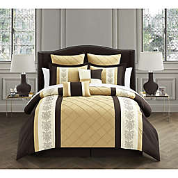 Chic Home Livingston 8-Piece King Comforter Set in Gold