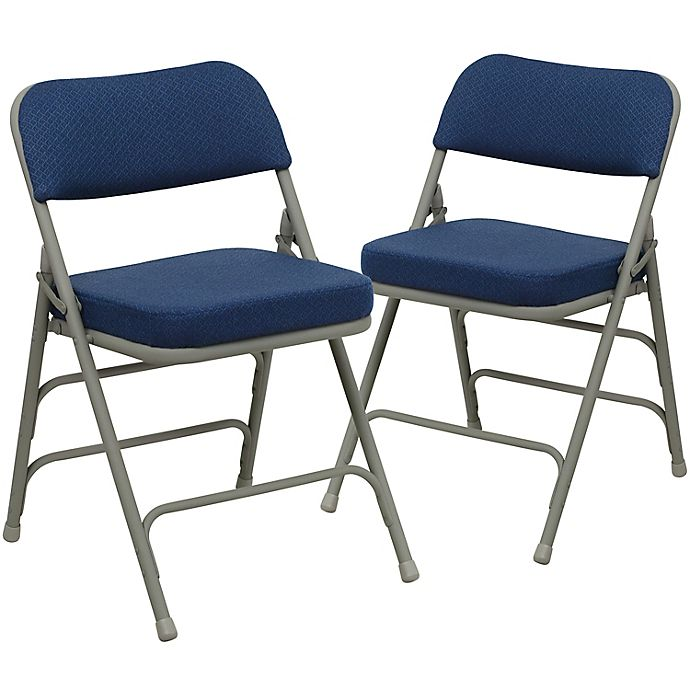 Alternate image 1 for Flash Furniture Hercules Padded Folding Chairs (Set of 2)