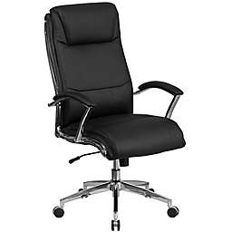 Flash Furniture High-Back Faux Leather Executive Swivel Office Chair in Black
