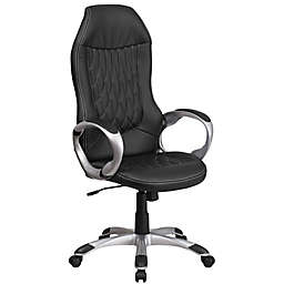 Flash Furniture High-Back Vinyl Executive Office Chair in Black