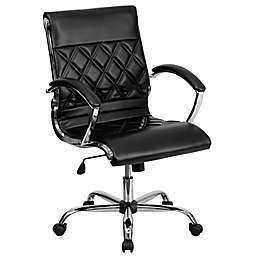 Flash Furniture 42-Inch Bonded Leather Office Chair with Arms in Black