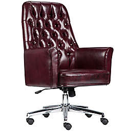 Flash Furniture Mid-Back Tufted Leather Executive Office Chair