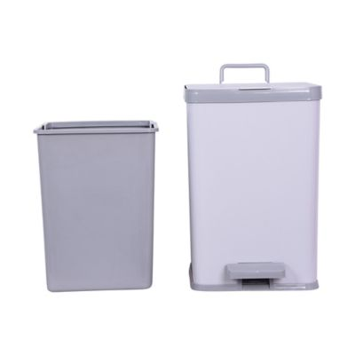 simply essential™ 2.25-gallon rectangle step trash can