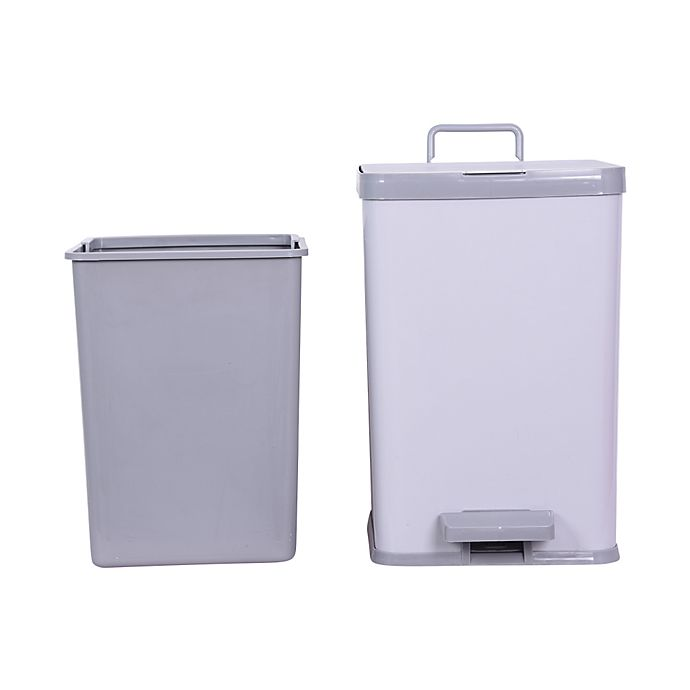 Alternate image 1 for Simply Essential™ 2.25-Gallon Rectangle Step Trash Can