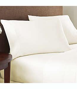 Sábana plana individual de algodón NestWell™ de 400 hilos color blanco garceta
