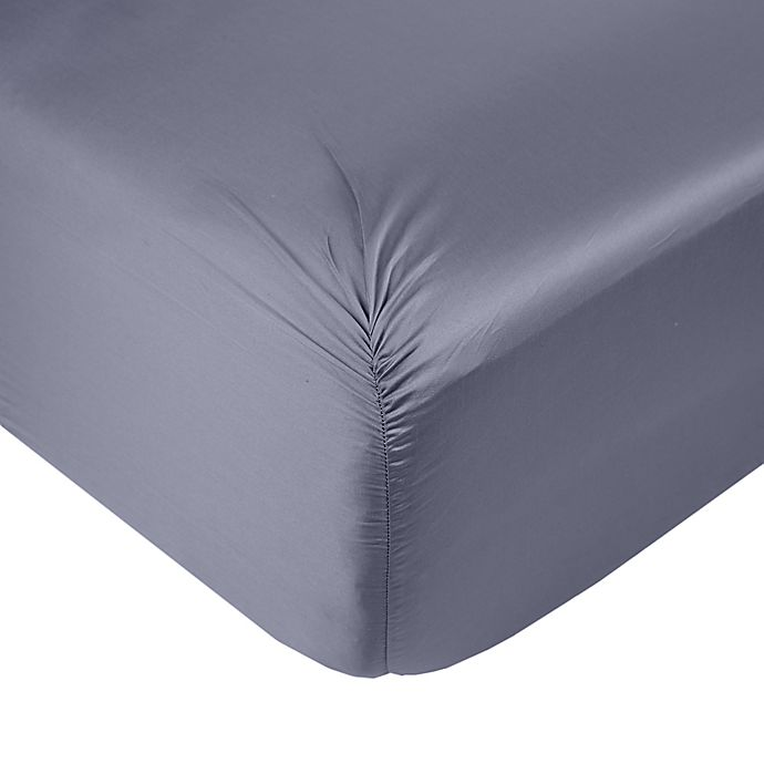 Alternate image 1 for Nestwell™ Cotton Sateen 400-Thread-Count California King Fitted Sheet in Folkstone Grey