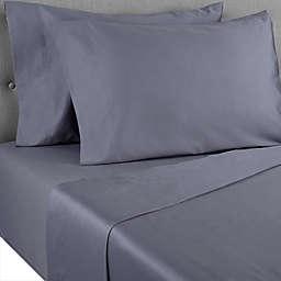 Nestwell™ Cotton Sateen 400-Thread-Count Full Flat Sheet in Folkstone Grey