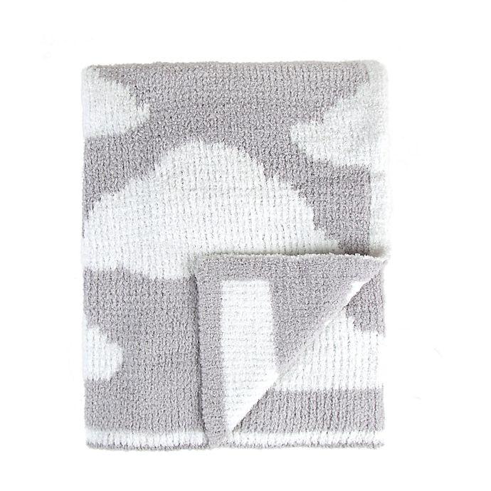 Alternate image 1 for Tadpoles Cloud Chenille Blanket in Grey