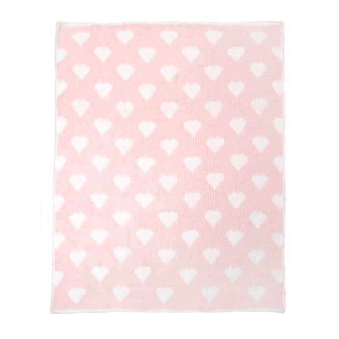 Alternate image 1 for Tadpoles Heart Chenille Blanket in Blush