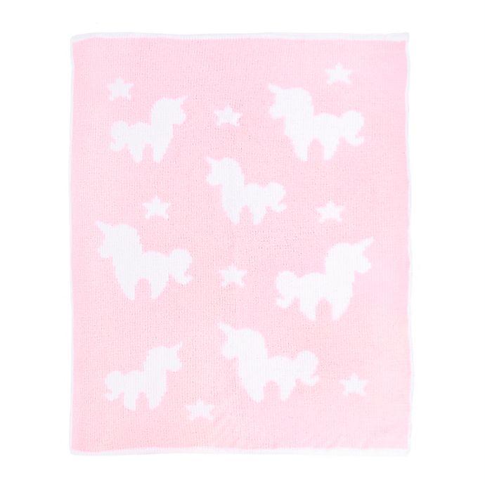 Alternate image 1 for Tadpoles Unicorn Chenille Blanket in Pink