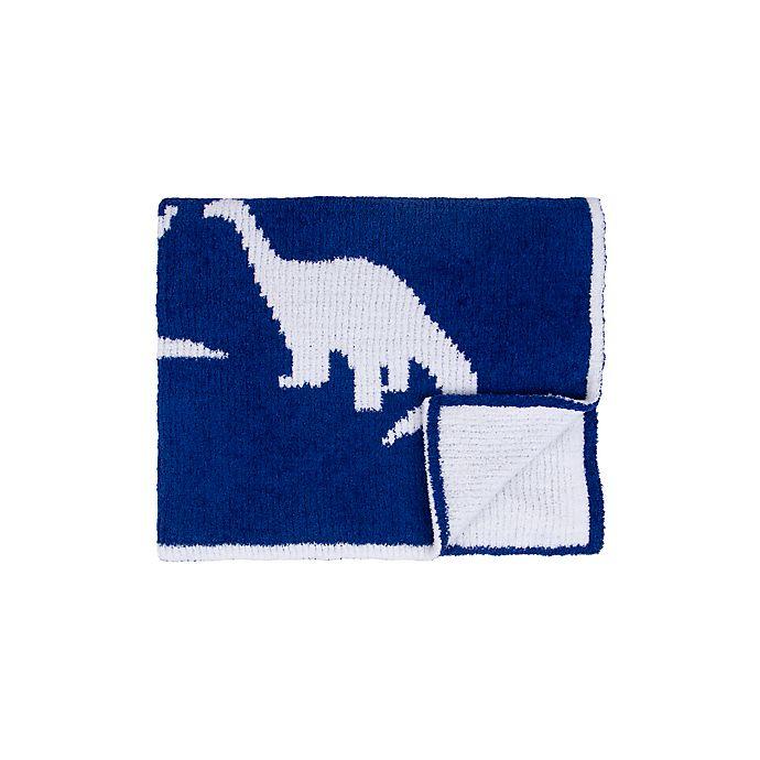 Alternate image 1 for Tadpoles Dino Chenille Blanket in Blue