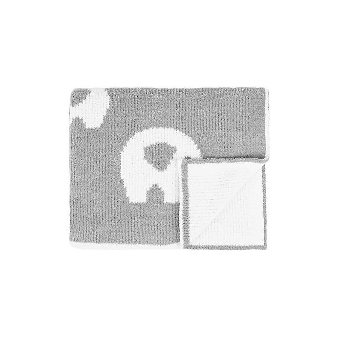 Alternate image 1 for Tadpoles Elephant Chenille Blanket in Grey