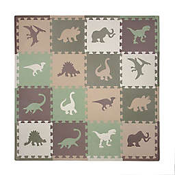 Tadpoles™ Camouflage Dinosaur 16-Piece Playmat Set in Green